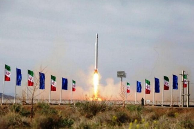 France and Germany joined the United States in condemning Iran's use of a ballistic missile to launch satellites into space last week, suggesting it is a violation of a United Nations Security Council resolutions and could prompt additional sanctions. Photo courtesy of Sepan News/EPA-EFE