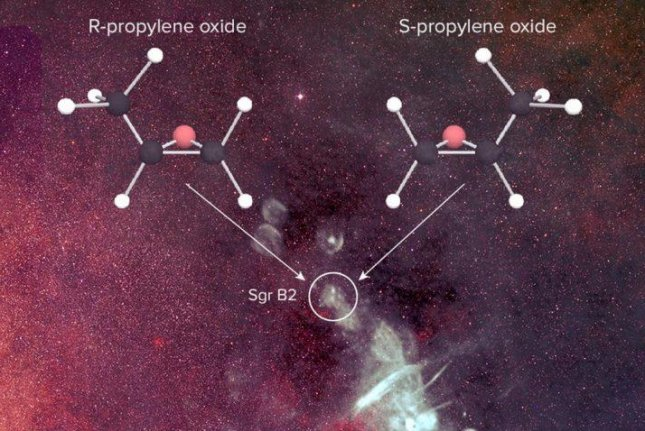 Propylene oxide is the first chiral molecule discovered in space. Photo by B. Saxton; NRAO/AUI/NSF