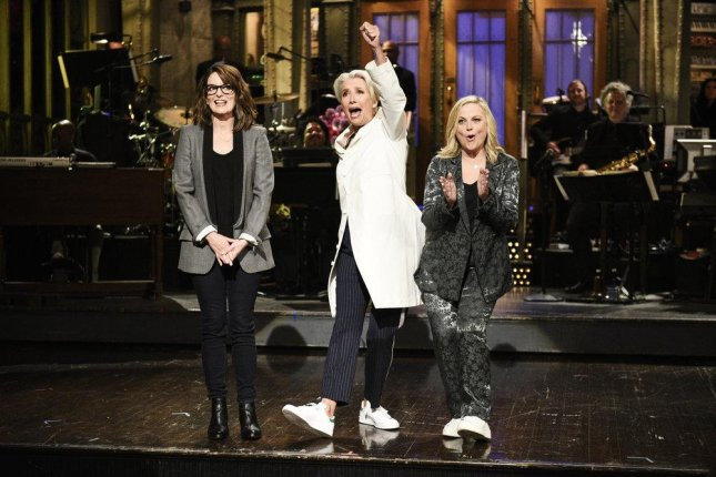 Tina Fey, Emma Thompson and Amy Poehler appear on this weekend's Saturday Night Live. Photo by Will Heath/NBC