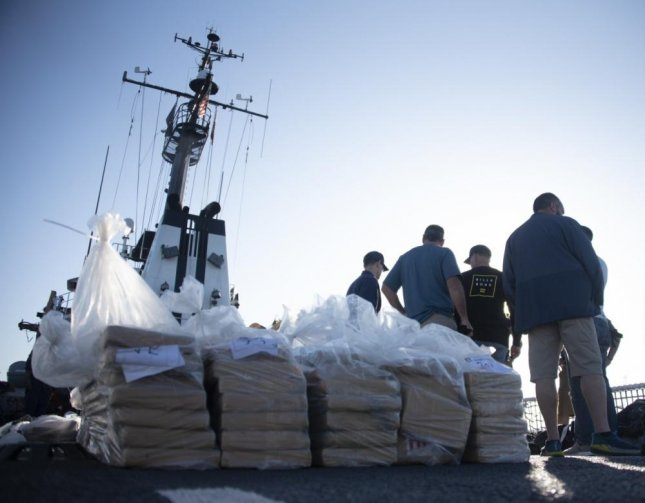 Coast Guardsmen offloaded some 6,800 pounds of cocaine in San Diego on Wednesday. Photo By Petty Officer 3rd Class Alex Gray/U.S. Coast Guard/Website