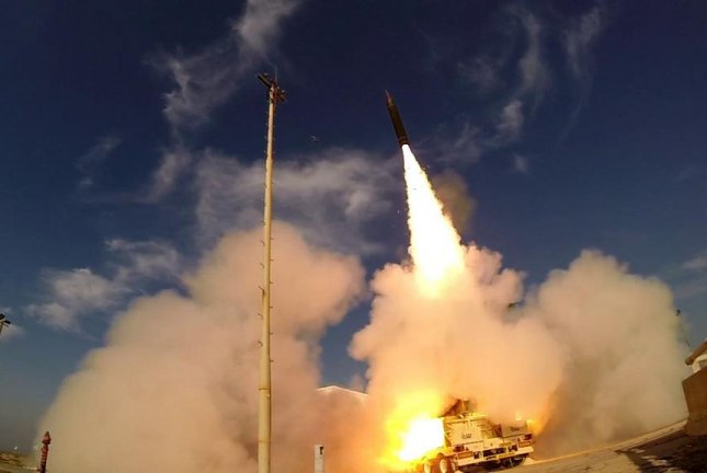BAE Systems, Raytheon, Northrop Grumman and others will design, develop, and demonstrate new missile defense capabilities for the U.S. Army. Pictured: The U.S. Missile Defense Agency tests the Arrow-3 interceptor with the Israel Missile Defense Organization. Photo by U.S. Missile Defense Agency/Flickr