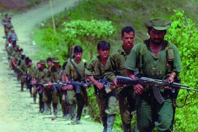 FARC insurgents, pictured in 1998. (CC/Institute for National Strategic Studies)