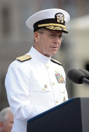 U.S. Navy Adm. Mike Mullen, chairman of the Joint Chiefs of Staff, said the effort in Afghanistan should link reconstruction with national security. Photo: UPI/Chad McNeely/U.S. Navy