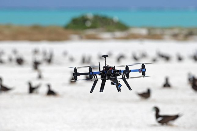 An unmanned aerial vehicle counts birds in Australia. Photo by Rohan Clarke/Monash University