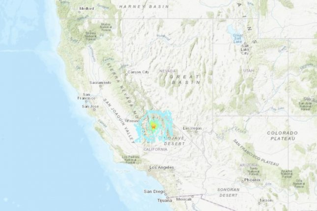 The epicenter of the earthquake was about 17 miles outside Lone Pine, Calif. Image courtesy of USGS