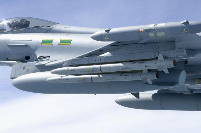 MBDA's AMRAAM missiles fitted onto a Royal Air Force Typhoon. Photo by U.K. Ministry of Defense