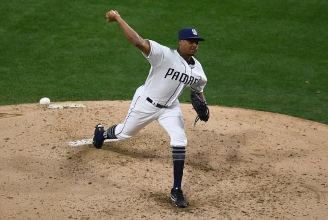 The Padres' Luis Perdomo earned his first victory of the year after giving up just 3 runs on seven hits. Photo courtesy San Diego Padres/Twitter