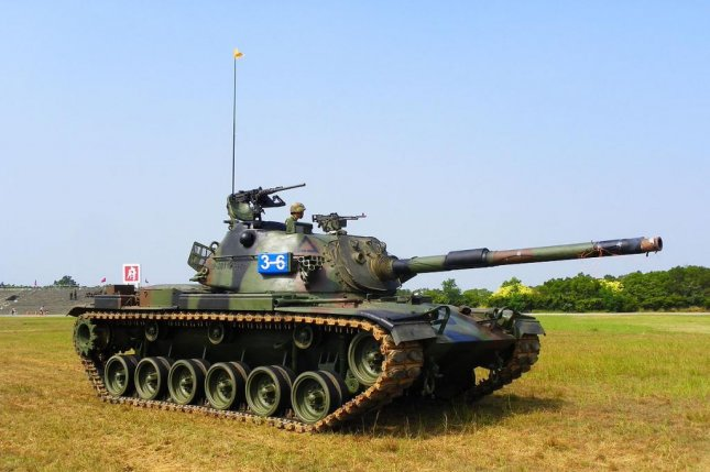 A CM-11 Brave Tiger tank operates at an exercise in 2011 at Hukou Camp in Hsinchu County, Taiwan. The tank, developed by General Dynamics and the Republic of China Army, has been in service since 1990. Photo courtesy of Wikimedia Commons