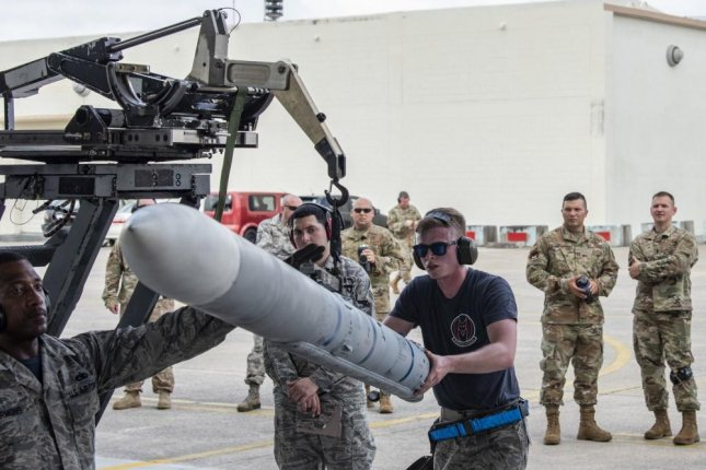 Raytheon Missile Systems has received a $768.3 million contract to produce Advanced Medium Range Air-to-Air Missiles as well as captive air training missiles  to the U.S. Navy and Air Force and to foreign military sales partners. Photo by Mandy Foster/U.S. Air Force