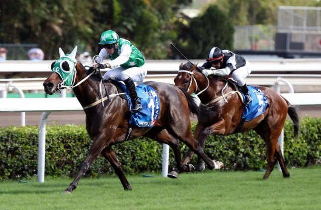 Pakistan Star races to victory in Sunday's Champions & Chater Cup at Sha Tin, entering the discussion for Hong Kong Horse of the Year. (HKJC photo)
