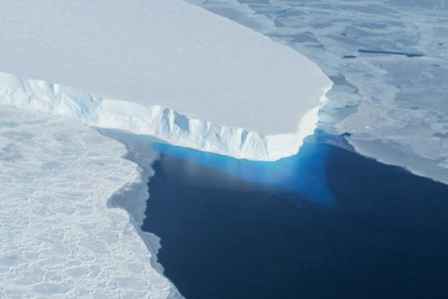 The exposure of ice cliffs to open ocean could accelerate sea level rise, new research suggests. Photo courtesy of NASA