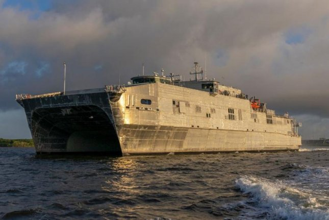 The USNS Puerto Rico, an Expeditionary Fast Transport ship of the U.S. Navy, completed its first sea trials on August 22, the Naval Sea Systems Command announced. Photo courtesy of Austral USA