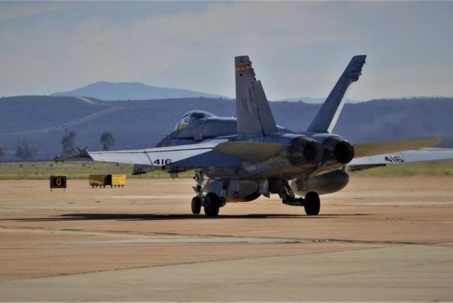An F/A-18 Super Hornet with the 3rd Marine Aircraft Wing prepares for takeoff in support of Exercise Winter Fury in January at Marine Corps Air Station Miramar, San Diego, California. Photo by Victor Mackson/U.S. Marine Corps