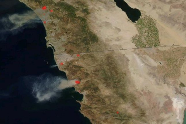 California wildfire smoke visible from space