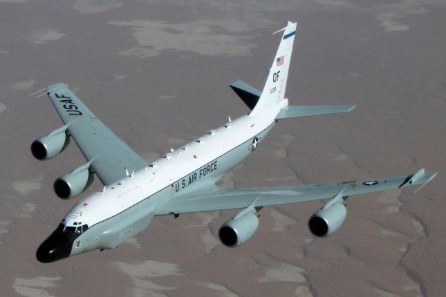 The RC-135W, or Rivet Joint, was deployed to the Korean Peninsula on Monday, according to an aviation tracker. Photo courtesy of U.S. Department of Defense