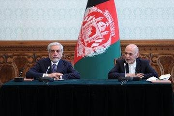 Ending months of political turmoil, Afghan President Ashraf Ghani (L) and his political rival Abdullah Abdullah signed a power-sharing agreement Sunday. Photo courtesy of Afghanistan presidential spokesman Sediq Sediqqi/Twitter