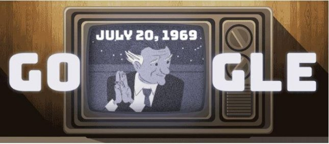 Google celebrates the 100th birthday of Walter Cronkite, the most trusted man in America. Screenshot from Google