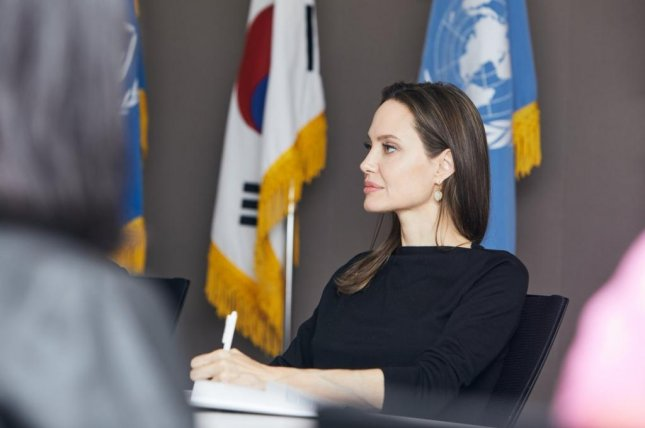 Angelina Jolie, a special envoy for the U.N. High Commissioner for Refugees, speaks in Seoul on Nov. 4, 2018. Photo by Jae Yoon Kim/UNHCR