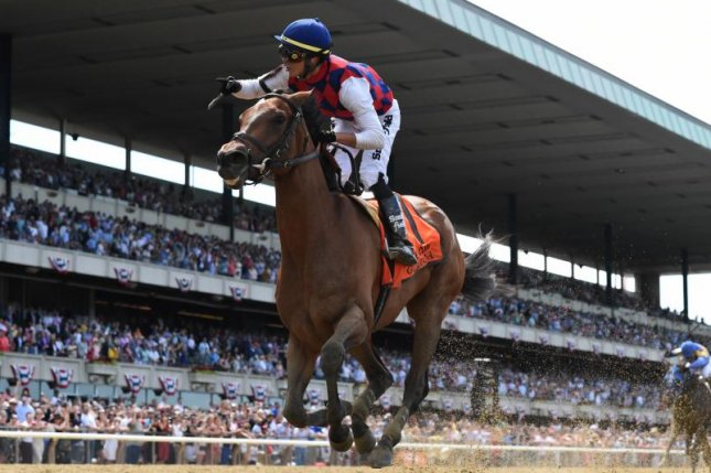 Guarana, seen romping home first in the Grade I Acorn in just her second career start, is the big favorite in Sunday's rescheduled Grade I Coaching Club American Oaks at Saratoga. Photo courtesy of New York Racing Association