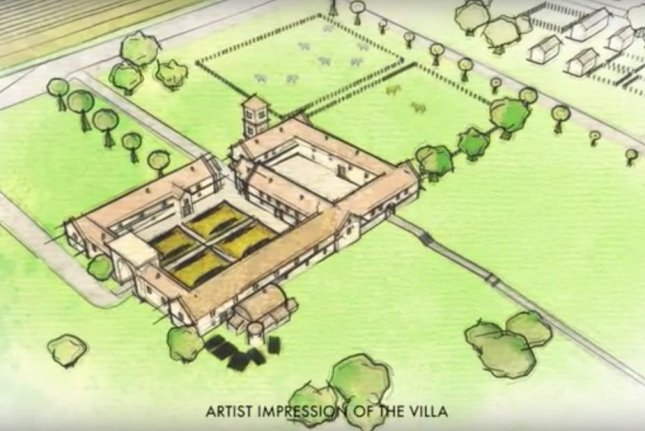 A massive Roman villa dating to 220 AD was unearthed in the backyard of a Tisbury, England home. The archaeological find uncovered coins, jewelry and evidence the villa had at least 20 rooms on its first floor. Screenshot from YouTube