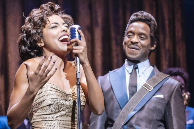 Actress Adrienne Warren and actor Kobna Holdbrook-Smith appear in the West End production of The Tina Turner Musical. The show is moving to Broadway this fall. Photo by Manuel Harlan, courtesy of Boneau/Bryan-Brown