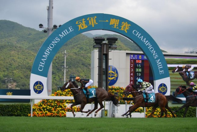 Able Friend wins Group 1 Champions Mile in Hong Kong in one highlight of a stellar weekend of racing (Richard Gross for UPI)