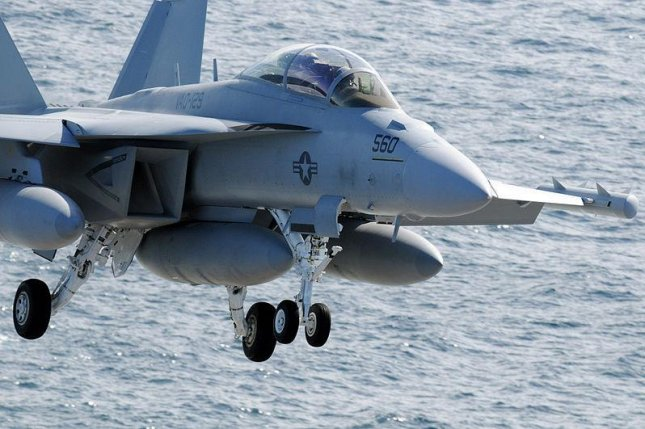 An EA-18G comes in for landing. U.S. Navy photo