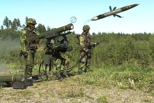 The Latvian and Lithuanian air forces successfully live-fired Saab's RBS 70 NG air defense system last month, the company announced Wednesday. The system is shown here being fired in 2011. Photo courtesy Saab