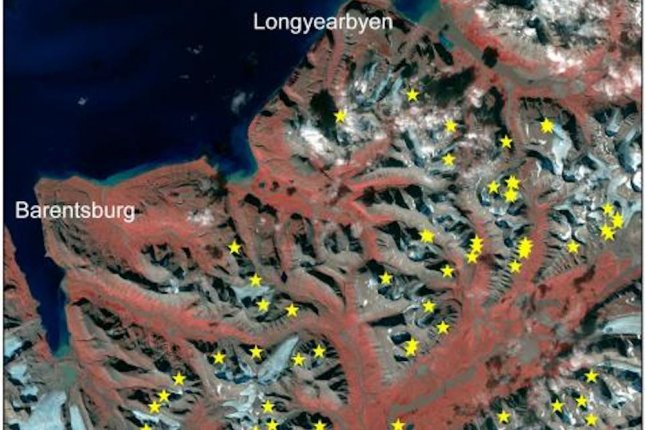 Radar satellite images reveal dozens of new avalanches in Svalbard. Photo by Copernicus/ESA