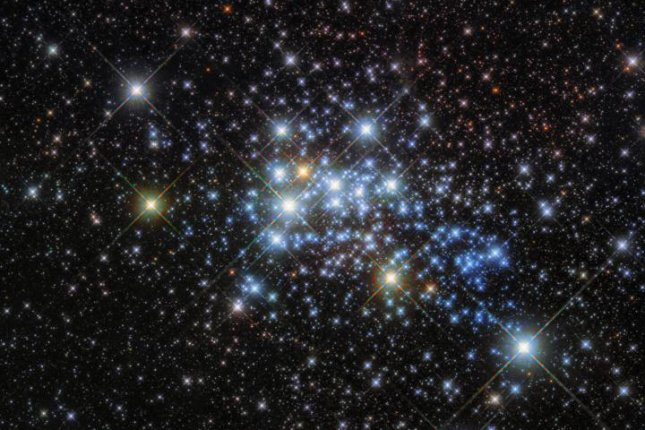 The Hubble Space Telescope has returned images of the young star cluster Westerlund 1 and one of the largest stars ever discovered, Westerlund 1-26. Photo courtesy of ESA/Hubble & NASA
