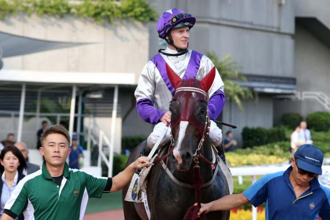 Zac Purton landed four winners on Sunday's program at Sha Tin in Hong Kong, including trainer John Moore's first winner of the young season. Photo courtesy of Hong Kong Jockey Club