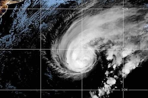 A hurricane warning was in effect for Bermuda. Image courtesy NOAA
