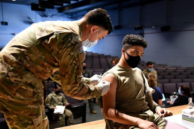 The Defense Department is considering mandatory COVID-19 vaccines, pending full approval of the vaccine by the U.S. Food and Drug Administration. Photo by TSgt. Michael Matkin/U.S. Air Force