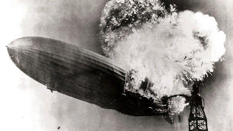 Hindenburg burning CREDIT: Gus Pasquerella via Wikipedia