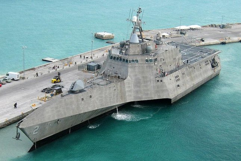 The Independence-class Littoral Combat Ship. U.S. Navy photo by Naval Air Crewman 2nd Class Nicholas Kontodiakos