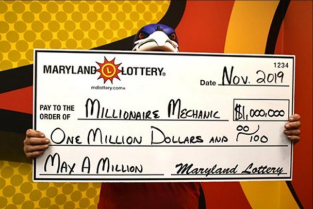 A Maryland Lottery player said breaking his foot turned out to be a lucky incident when he won four $500 prizes in two weeks followed by a $1 million jackpot. Photo courtesy of the Maryland Lottery