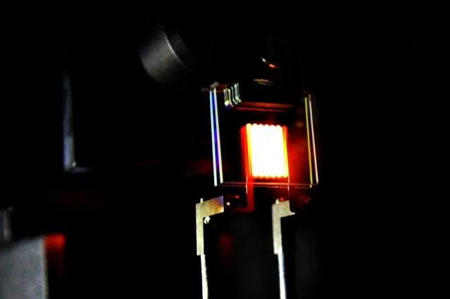 The energy efficiency achieved by the scientists' first proof-of-concept prototype matched the levels of many LED and CFL bulbs on the market today. Photo by MIT News