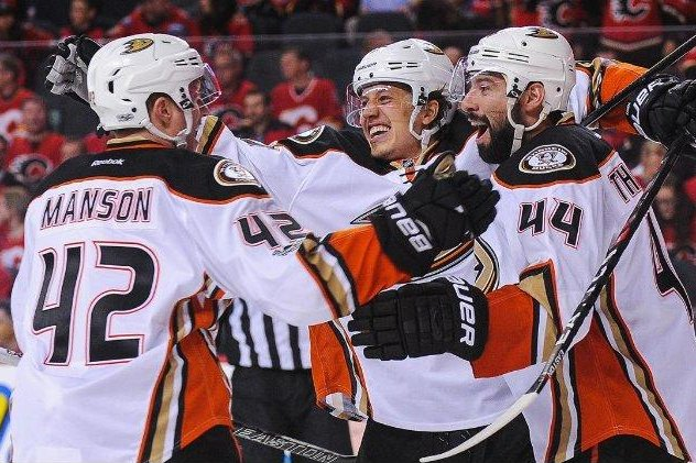 Anaheim has taken a 3-0 series lead over Calgary. Photo courtesy Anaheim Ducks via Twitter