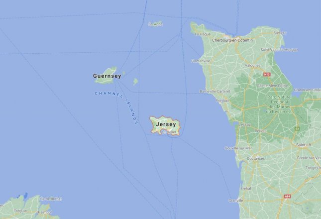 Two British Royal Navy ships have been sent to the island of Jersey ahead of a planned blockade by French fishing vessels protesting new fishing licenses from the island. Image courtesy of Google Maps/Website