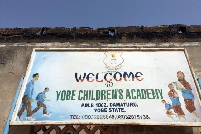 The Yobe Children's Academy in Nigeria was destroyed by Boko Haram insurgents in 2012, and reopened three months later with only a quarter of its students. A Human Rights Watch report said one million Nigerian children have little or no access to school because of the conflict. Photo be Bede Sheppard/Human Rights Watch