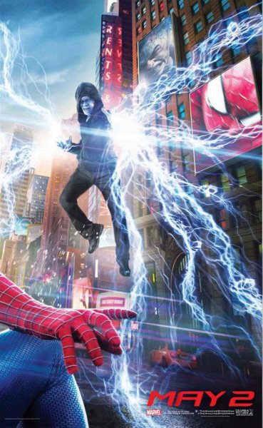 Jamie Foxx as Electro in one of a series of posters for The Amazing Spider-Man 2. (Columbia Pictures)