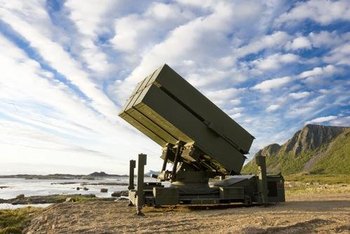 The National Advanced Surface-to-Air Missile System (NASAMS) surface-launched AMRAAM system developed Kongsberg and Raytheon. Photo by Kongsberg