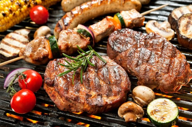 Pictures Of Cooked Meat Meat cooked at high te...