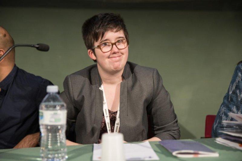 Journalist Lyra McKee during the International Journalism Festival in 2017. Photo by Francesco Cuoccio/EPA-EFE