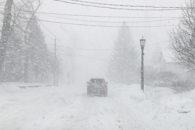 Watertown, N.Y., reported nearly 7 inches of snow in just a 2 hour period on Friday morning. Photo courtesy of the New York State Department of Transportation