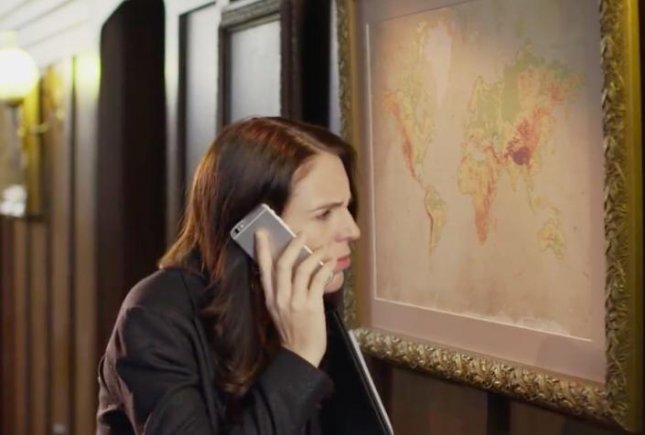 New Zealand Prime Minister Jacinda Ardern and Flight of the Conchords comedian Rhys Darby launched a campaign poking fun at the idea that the country is often left off of maps. Screen capture/Jacinda Ardern/Facebook
