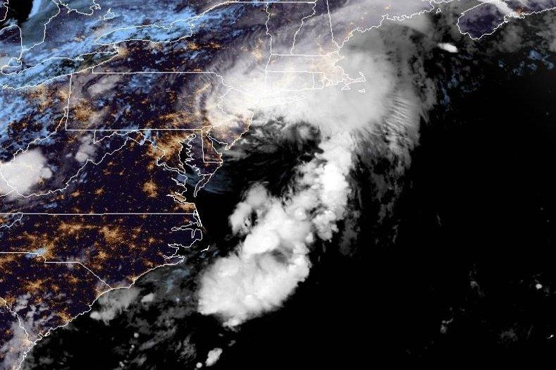 Tropical Storm Elsa is seen on Friday near the Atlantic Coast. Image courtesy NOAA/NHCPho