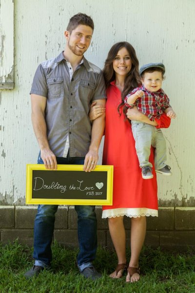 Jessa Duggar with husband Ben Seewald and son Spurgeon. The couple are expecting their second child. Photo via the Seewald Family website