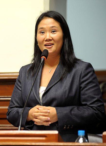 Keiko Fujimori, as seen in October, courtesy of Congreso de la Republica del Perú on Flickr via Wikimedia Commons.