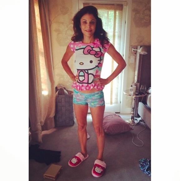 Bethenny Frankel wears 4-year-old daughter's pajamas in Instagram photo